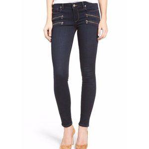 PAIGE | Edgemont Double Zips Ultra Skinny Jeans 30
